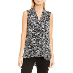 565c7c7bc0e587 Vince Camuto Fluttering Notes Printed Top ( 44) ❤ liked on Polyvore  featuring tops