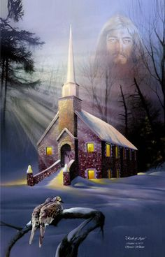 Rock of Ages Church Painting ~ Spencer Williams