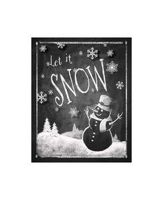 LET IT SNOW Chalkboard Christmas sign - Instant #housewares #homedecor @EtsyMktgTool http://etsy.me/2g1wU4V