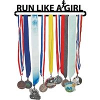 race medals display -idea  use these words on a wooden display. Add a shelf to the top
