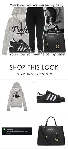 """""""BadjaBadja👑"""" by biapearl ❤ liked on Polyvore featuring Victoria's Secret, adidas Originals, MICHAEL Michael Kors and Mozambique"""