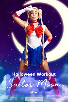 Sailor Moon Workout! Inspired by Sailor Moon, this Pilates Intense Interval Training workout is sure to get your body working! For more workout videos, workout challenges, fitness tips, and fitness motivation, follow Blogilates on Youtube! Interval Training Workouts, Body Workouts, Fitness Tips, Fitness Motivation, Blogilates, Sailor Scouts, Fat Burning Workout, Fat To Fit, Total Body