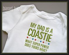 Coast Guard Dad - Funny Baby Gift via Etsy. I think this is the cutest thing for later!