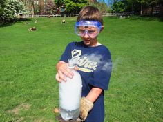 Dry Ice Rockets #Ice #Experiment #Kids #ScienceProjects