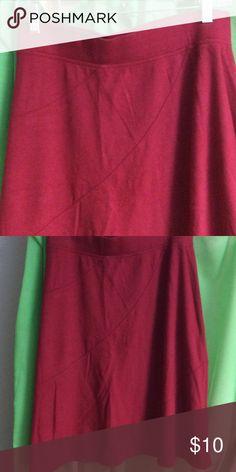 Indigo Knee length skirt Dark red skirt with seams. Cotton. Very comfortable. Knee length. Indigo Blue Skirts Midi