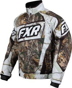 FXR Racing - Snowmobile Gear - Men's Helix Jacket - Realtree Xtra/Realtree APHD Snow