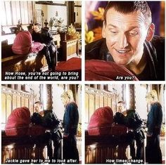 The funny thing is The Doctor can speak baby....One has to wonder what Baby Rose was saying to him then.