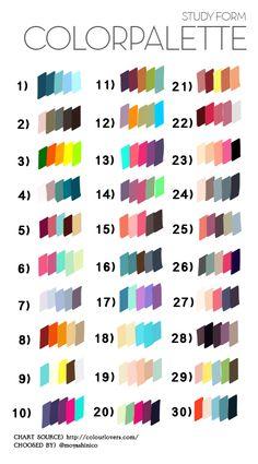 """もにかにこ على تويتر: """"最近外国で「カラーパレットからリクエストされた番号のカラーを使って描く」という面白い何かが流行りなんですが、たまに使ってみようかと思って個人的な用途のために作ってみました。使いたい方はどうぞ。 http://t.co/rOiDYLTdS2"""""""