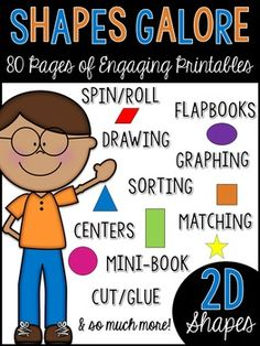 2D Shapes Galore! Teach your students all about 2D Shapes with these exciting…