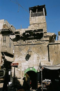 Mosque in the old city, Aleppo, Syria