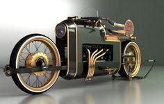 The ARX-4 Steampunk motorcycle by Mikhail Smolyanov