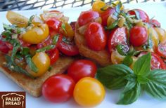 Low Carb Bruschetta Recipe With Paleo Bread