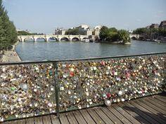 The Ponts des Artes - the Love Bridge of Paris