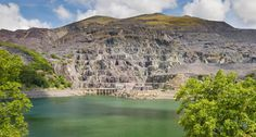 Electric Mountain, otherwise known as Dinorwig hydropower plant near Snowdonia in North Wales. It's built in an old slate quarry.