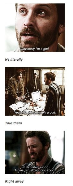 He literally told them right away #Supernatural