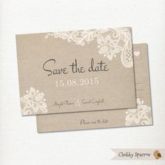Hey, I found this really awesome Etsy listing at https://www.etsy.com/listing/244681764/lace-linen-save-the-date-postcard