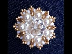 beading tutorial ring or earring with superduo and rivoli - cabochon soft touch 18 mm