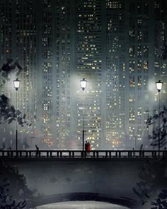 San-Francisco-based illustrator Pascal Campion captures the magic in everyday moments. Each colorful digital illustration is like a snapshot of a precious memory with loved ones, pets, or simply a tranquil moment of solitude. Pascal Campion, City Art, Buch Design, Illustrations, Aesthetic Art, Oeuvre D'art, Digital Illustration, Pixel Art, Art Inspo