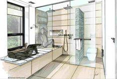 Nette Idee Für Das Bad: Die Glastüre Schliesst Entweder Die Dusche Oder Die  Toilette