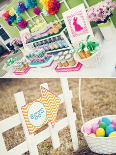 Easter Bunny Birthday Party! Also fun for just an egg hunt Easter party.