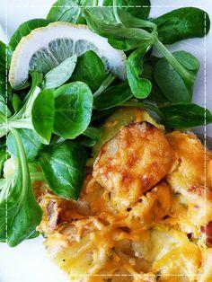 Kouzlo mého domova: Zapékané nové brambory se šunkou serano, žampiony ...