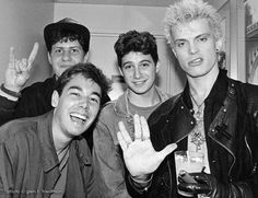 Beastie Boys and Billy Idol, who would like you to live long and prosper.