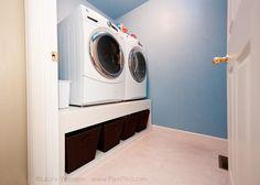 Laundry pedestals DIY