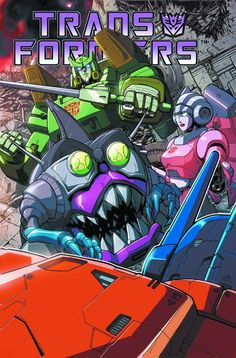 awesome G1 transformers poster featuring springer, arcee, a sharkticon and the back of an unidentified transformer that is most likely ultra magnus or the prime