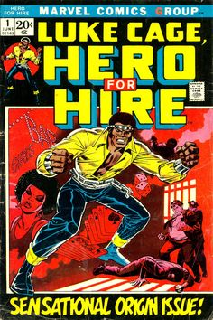 """comicbookcovers: """"Luke Cage, Hero For Hire #1, June 1972, cover by John Romita """""""