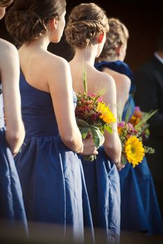 Navy Blue Country Bridesmaid Dresses