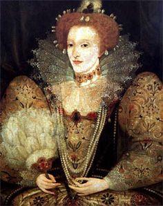 Queen Elizabeth with a Fanc. 1590.
