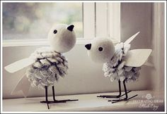 love - Super cute DIY birds, could be great craft to do with kids to decorate the home!