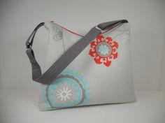 Large Zipper Top Shoulder Bag / Large Hobo Bag /  by ThePurseCo, $80.00