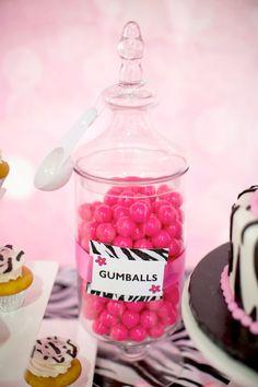 Hello Kitty Pink Zebra themed birthday party with Lots of Really Cute Ideas via Kara's Party Ideas Kara Allen KarasPartyIdeas.com #HelloKitt...