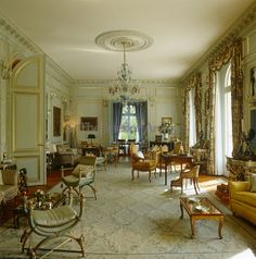 Duke & Duchess of Windsor's Paris home ~ The muted colour scheme of the formal salon took its inspiration from the Amalienburg Palace in Munich