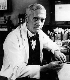 Alexander Fleming (1881-1955):  This Scottish doctor was growing bacteria on petri dishes when he noticed that some dishes had grown moldy.  Before he threw out the dishes, he noticed that the mold seemed to have killed the bacteria he was growing.  He called the substance Penicillin, and it was the very first antibiotic.