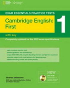 Cambridge First Practice Tests 1 (suitable for the 2015 FCE) with Answer Key + DVD-ROM  (Osborne, Richard)