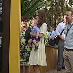 The Duchess of Cambridge and Prince George inspect Taronga Zoo. William And Son, Prince William And Catherine, Princess Kate, Princess Charlotte, Prince George Alexander Louis, Royal Babies, Duke Of Cambridge, April 20, Duke And Duchess