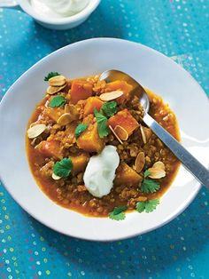 lentil and butternut squash stew