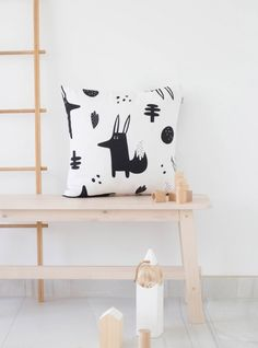 Funda de cojín decorativo de 50 x 50 cms Smart Fox - Cojines | Bandide