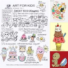 Sweet Food Drawing Art Lessons For Kids, Art For Kids, School Holiday Programs, Programming For Kids, Art Academy, Art Programs, Food Drawing, School Holidays, Simple Shapes