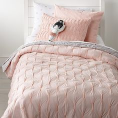 Sale ends soon. Add an instant touch of elegance to any bedroom with our Chic Pink Duvet. This cotton voile quilt is the perfect balance to style and comfort. Plus, it coordinates perfectly with our Chic Pink Bedding. Chic Bedding, Pink Bedding, Luxury Bedding, Bedding Sets, Dorm Bedding, Sofas, Pink Bedroom Decor, Bedroom Ideas, Feminine Bedroom