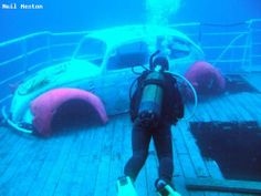 Want to see carwrecks while scuba diving. Check out the deck of the MV Karwela in Malta.