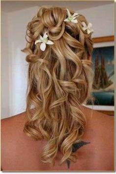 I would love to see both of my granddaughters hair done like this when they are flower girls at my wedding.