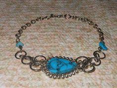 Silver Marbleized Teardrop Turquoise Fancy by MoodTherapy on Etsy, $9.95