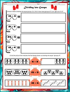 Here are some great activities for Diving into Division