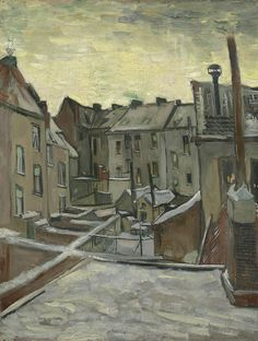 Houses Seen from the Back, 1885 - 1886, Vincent van Gogh, Van Gogh Museum, Amsterdam (Vincent van Gogh Foundation)