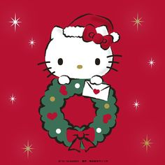 Merry Christmas! Hello Kitty Christmas Tree, Cartoon Christmas Tree, Christmas Cartoons, Christmas Cats, Merry Christmas, Hello Kitty Clipart, Hello Kitty Themes, Hello Kitty Pictures, Sanrio Hello Kitty