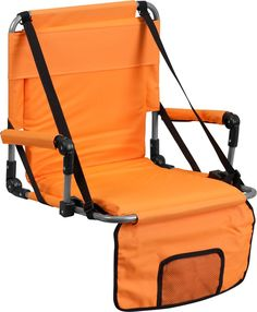 Folding Stadium Chair In Orange Folding Stadium Chair In Orange