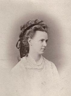Grand Duchess Maria Alexandrovna of Russia. Mids 1870s.